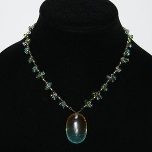 Monet Jewelry - Stunning orange green and blue Monet necklace